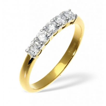 18K Gold 0.50ct H/si Diamond Ring, DR04-50HSY